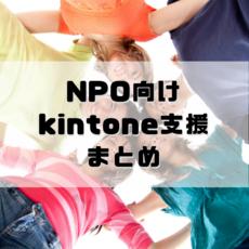 【 NPO × kintone 】支援サービスのNPO特別プランまとめ(2018年5月時点)