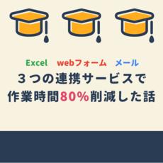 私のkintone事例!Webフォーム・メール・Excelの連携サービスを使い、作業時間を80%削減したお話