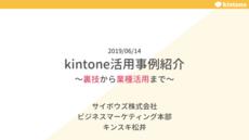kintone Café 浜松の登壇資料を公開(2019/6/14@浜松)